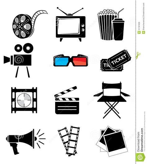 movie icon set royalty free stock images image 31781639