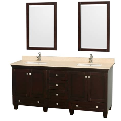 72 in double bathroom vanities wyndham collection wcv800072desivunsm24 acclaim 72 inch