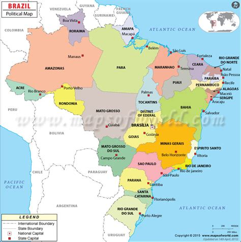 political map brazil brazil jnc journeysjnc journeys