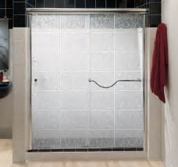 frosted glass shower doors decorating minimalist bathroom with sliding shower doors