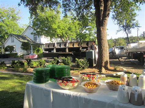 backyard wedding catering grass valley bbq catering archives page 8 of 16 bill s chuckwagon bbq catering