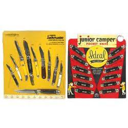 ideal knife company pocket knife store display cards 4 ideal cer display