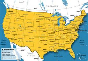 maps of usa and canada map of united states and canada with cities