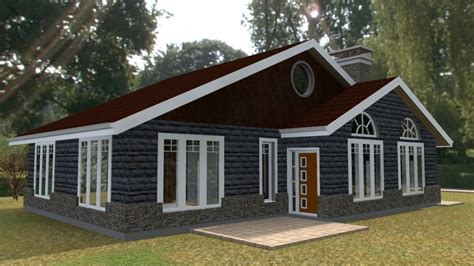house plans in kenya elegant three bedroom bungalow house plan david chola