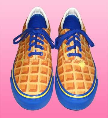 food slippers food inspired footwear waffle cone sneakers