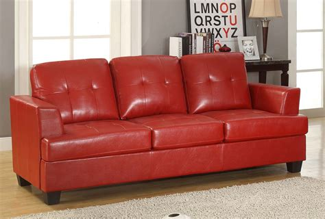 red bonded leather sofa homelegance keaton sofa red bonded leather match