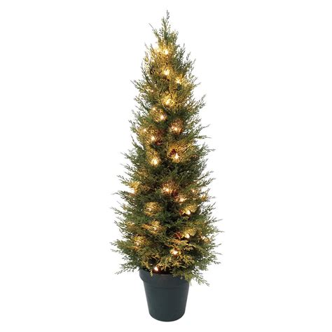 3ft tall pre lit christmas tree indoor outdoor with