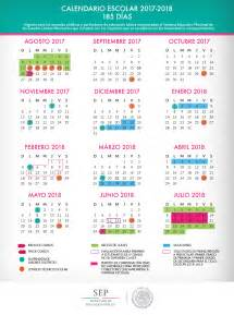 Calendario 2018 De Mexico Calendario Escolar Oficial Sep 2017 2018