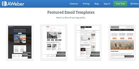 Mailchimp Vs Aweber Our Complete Comparison Guide Aweber Newsletter Templates