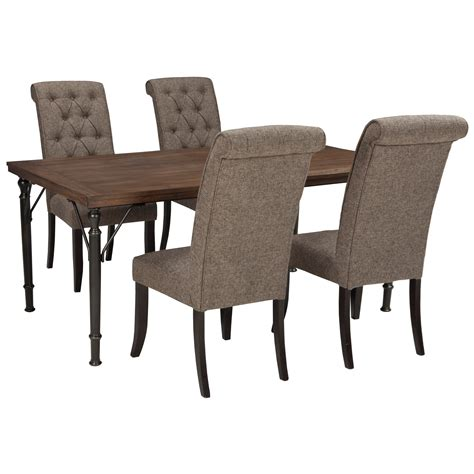 tripton rectangular dining room table d530 25 tables signature design by ashley tripton 5 piece rectangular