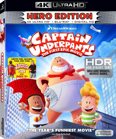 Baby 4k Bluray captain underpants the epic 4k
