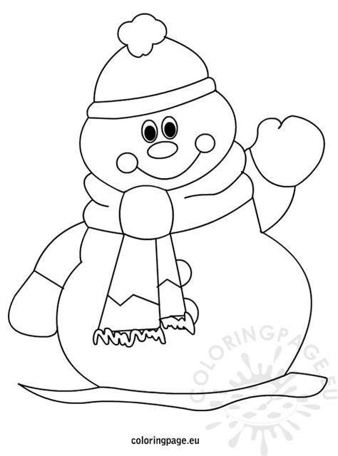 coloring pages with snowman snowman face coloring page www pixshark com images
