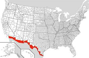 Mexico Usa Border Map by Mexico Us Border Counties Mapsof Net