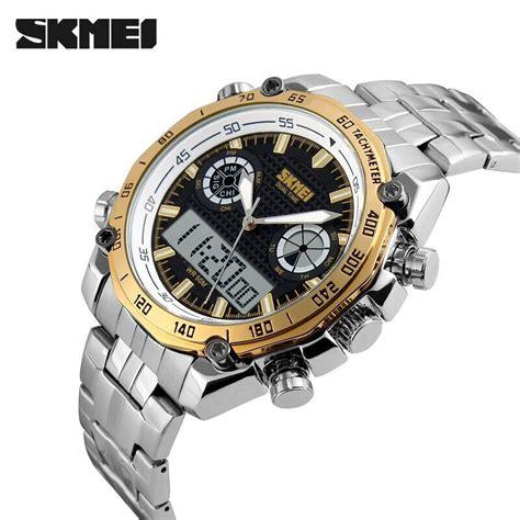 Skmei Jam Tangan Pria Digital 3 skmei jam tangan analog digital pria ad1204 golden