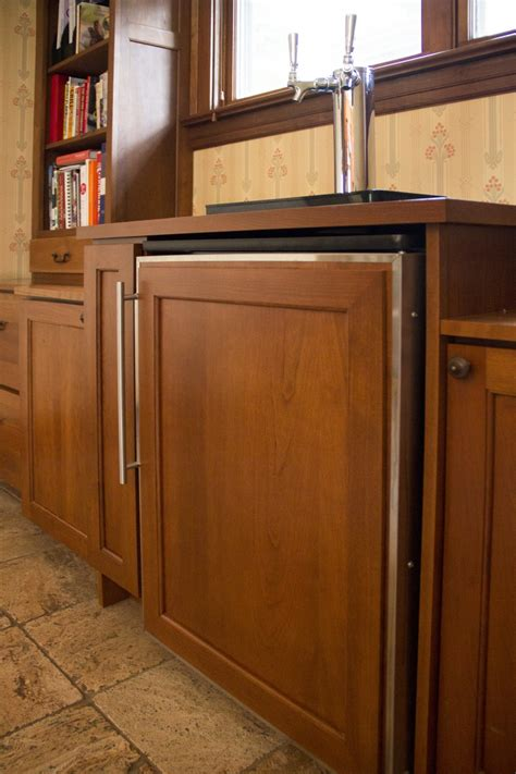 built in kegerator oak park built in kegerator amish cabinet company