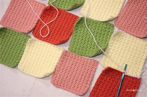 joining knitting together how to join solid squares repeat crafter me