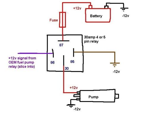 automotive diagrams wonderful wiring a 12v relay ideas electrical circuit