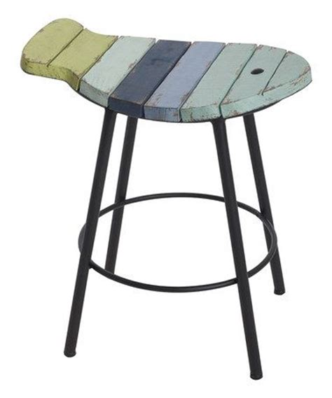 Fish Stools by Aqua Slatted Fish Stool Zulilyfinds Teal Blue And On