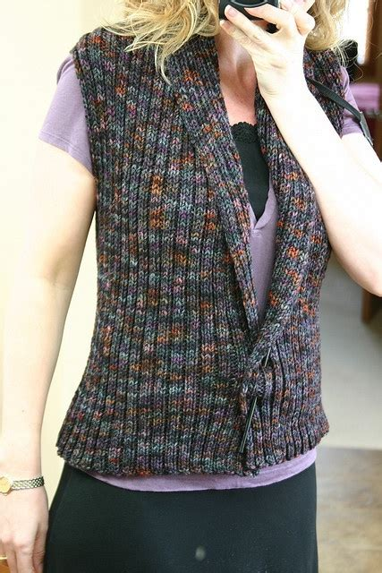 easy knit vest free patterns knit vest pattern crafts