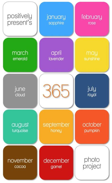 monthly colors 25 best ideas about 365 photo challenge on