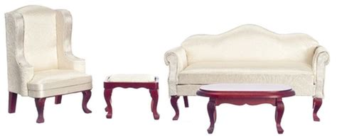 queen anne living room furniture 4 piece queen anne living room furniture set in cherry wood by town square miniatures