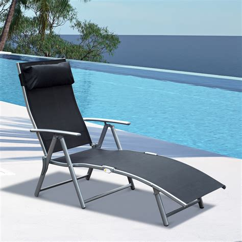 chaise lounge chair folding pool yard adjustable