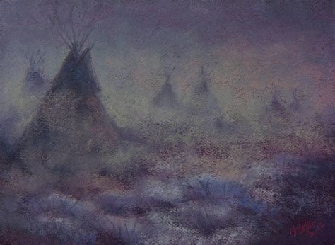 fade into the woodwork into the mist they fade away pastel by moller