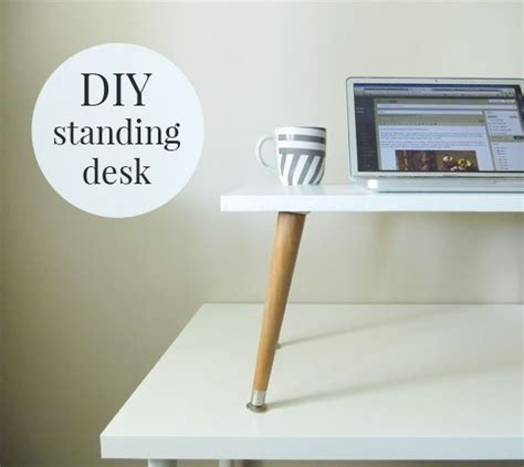 how to make your desk a standing desk 25 best ideas about diy standing desk on