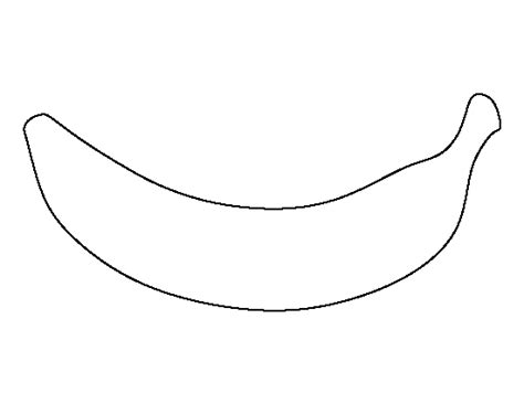 banana template banana pattern use the printable outline for crafts