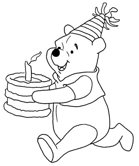 disney coloring pages birthday free coloring pages of winnie the pooh birthday