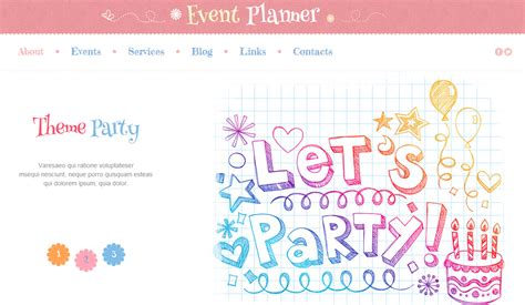event planner website template best theme and event planning website