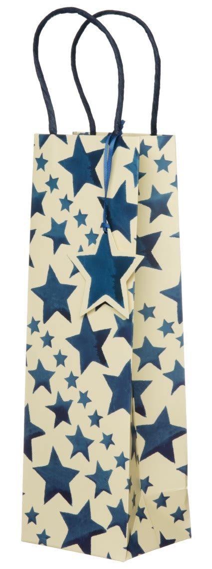 Blue Bottle Gift Card - emma bridgewater blue stars bottle gift bag whsmith
