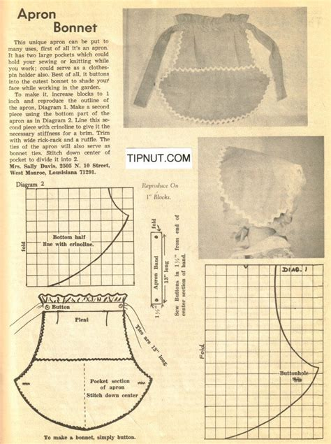 pattern for apron bonnet 1000 images about aprons on pinterest vintage apron