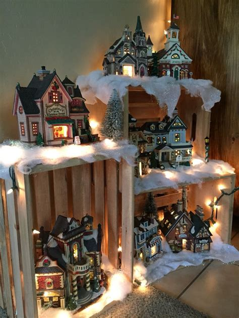 christmas village snow blankets with lights the 25 best ideas about christmas village display on