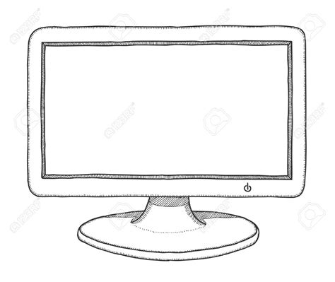 Drawing Monitor by Drawing Of A Computer Computer Computer