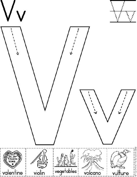 letter v vegetables activities alphabet letter v worksheet standard block font