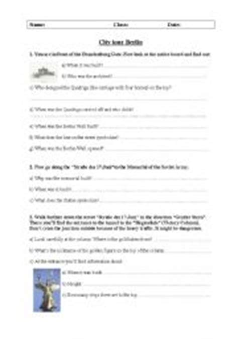 printable berlin questionnaire english teaching worksheets the city