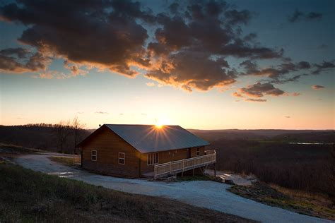 new cabin offers splendid arkansas sunset view the boc