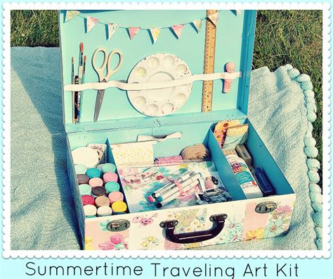 diy kits summertime traveling art kit diy