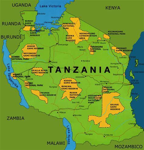 africa map tanzania tanzania map africa