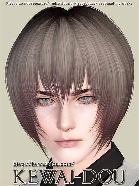 sims 3 anime hair leire hair for the sims3 kewai dou