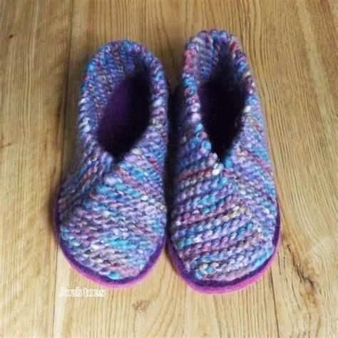 knitted slippers knitted crossover slipper kit uk sizes 1 12 we