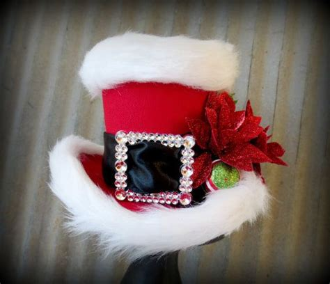 santa mini top hat alice in wconderland mini top hat tea