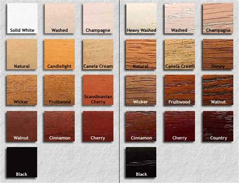 wood color chart horizon color selections custom made low profile furniture