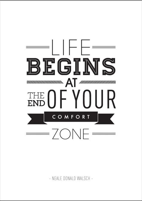 life comfort zone quotes typography posters of inspirational quotes by ben fearnley