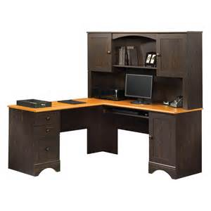 Computer Desk Corner With Hutch Sauder Harbor View Corner Computer Desk With Hutch
