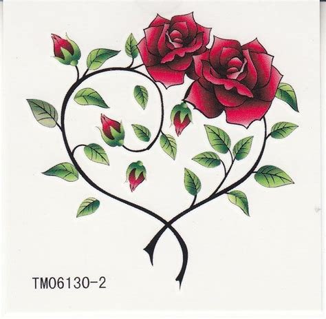 heart shaped rose tattoo 31 best shaped images on