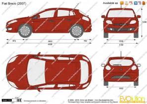Fiat Bravo Dimensions The Blueprints Vector Drawing Fiat Bravo
