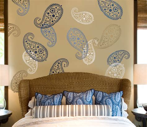 paisley home decor stencil vintage paisley med reusable wall stencil for diy