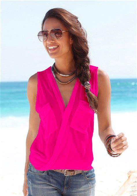 Tank Top Bahan Adem Scelta 271 baju pantai wanita sleeveless v neck shirt size m blue jakartanotebook